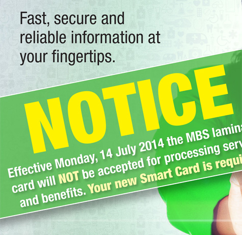 New MBS SmartCard Required From July 14 2014